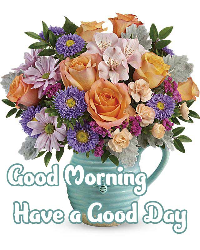 Latest Good Morning Images Photo With Flower